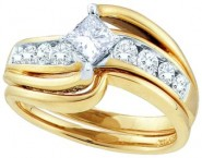 Ladies Two Piece Set 14K Two Tone Gold 1.00 ct. GD-45405