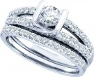 Ladies Two Piece Set 14K White Gold 1.00 ct. GD-45436
