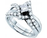 Ladies Two Piece Set 14K White Gold 1.01 cts. GD-45448