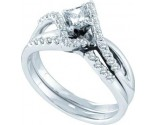 Ladies Two Piece Set 14K White Gold 0.50 cts. GD-45499