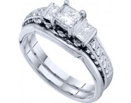 Ladies Two Piece Set 14K White Gold 1.00 ct. GD-45466