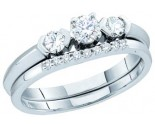 Ladies Two Piece Set 14K White Gold 0.50 cts. GD-45480