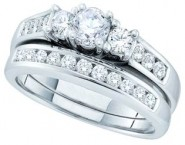 Ladies Two Piece Set 14K White Gold 1.00 ct. GD-45626