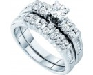 Ladies Two Piece Set 14K White Gold 1.00 ct. GD-45700