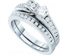 Ladies Two Piece Set 14K White Gold 0.95 cts. GD-45702
