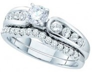 Ladies Two Piece Set 14K White Gold 1.00 ct. GD-45705