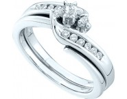 Ladies Two Piece Set 14K White Gold 0.30 cts. GD-45776