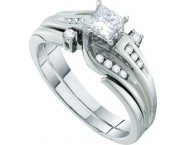 Ladies Two Piece Set 14K White Gold 0.52 cts. GD-45777