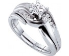 Ladies Two Piece Set 14K White Gold 0.50 cts. GD-45784