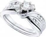 Ladies Two Piece Set 14K White Gold 0.90 cts. GD-45786