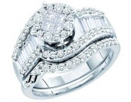 Ladies Two Piece Set 14K White Gold 1.25 cts. GD-46317 [GD-46317]