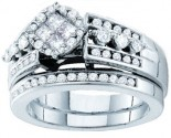 Ladies Two Piece Set 14K White Gold 1.00 ct. GD-46320