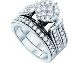 Ladies Two Piece Set 14K White Gold 1.36 cts. GD-46321