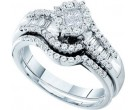 Ladies Two Piece Set 14K White Gold 0.73 cts. GD-46322