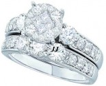 Ladies Two Piece Set 14K White Gold 1.50 cts. GD-46344