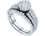 Ladies Two Piece Set 14K White Gold 1.00 ct. GD-46359