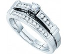 Ladies Two Piece Set 14K White Gold 0.35 cts. GD-46675