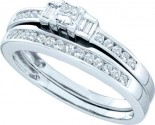 Ladies Two Piece Set 10K White Gold 0.45 cts. GD-46678