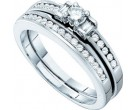 Ladies Two Piece Set 10K White Gold 0.43 cts. GD-46723