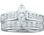 Ladies Two Piece Set 14K White Gold 1.00 ct. GD-46847