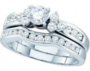 Ladies Two Piece Set 14K White Gold 1.00 ct. GD-47483