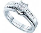Ladies Two Piece Set 14K White Gold 0.21 cts. GD-47507