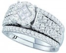 Ladies Two Piece Set 14K White Gold 1.50 cts. GD-47533