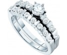 Ladies Two Piece Set 14K White Gold 1.00 ct. GD-47615