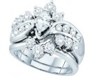 Ladies Two Piece Set 14K White Gold 2.00 ct. GD-47693