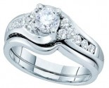 Ladies Two Piece Set 14K White Gold 0.90 cts. GD-47727