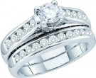 Ladies Two Piece Set 14K White Gold 1.49 cts. GD-47784