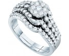 Ladies Two Piece Set 14K White Gold 1.01 cts. GD-47843