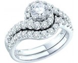 Ladies Two Piece Set 14K White Gold 1.50 cts. GD-47650