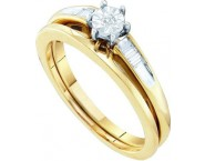 Ladies Two Piece Set 10K Yellow Gold 0.07 cts. GD-48326 [GD-48326]