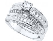Ladies Two Piece Set 14K White Gold 1.48 cts. GD-48441