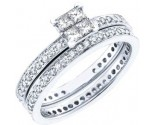 Ladies Two Piece Set 14K White Gold 1.00 ct. GD-48470