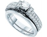 Ladies Two Piece Set 14K White Gold 1.00 ct. GD-48493