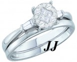 Ladies Two Piece Set 14K White Gold 0.25 cts. GD-48768