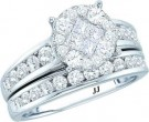 Ladies Two Piece Set 14K White Gold GD-48777