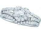 Ladies Two Piece Set 14K White Gold 0.75 cts. GD-49651