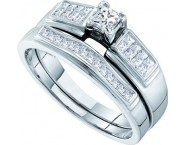Ladies Two Piece Set 14K White Gold 0.50 cts. GD-49803 [GD-49803]