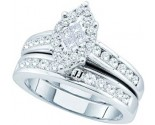 Ladies Two Piece Set 14K White Gold 1.07 cts. GD-50877