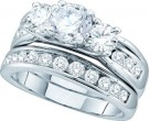 Ladies Two Piece Set 14K White Gold 2.50 cts. GD-52346