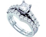Ladies Two Piece Set 14K White Gold 2.00 ct. GD-52347