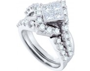 Ladies Two Piece Set 14K White Gold 2.06 cts. GD-52348