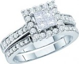 Ladies Two Piece Set 14K White Gold GD-52385