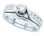 Ladies Two Piece Set 14K White Gold 0.75 cts. GD-52416