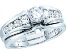 Ladies Two Piece Set 14K White Gold 1.00 ct. GD-52421