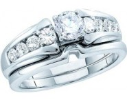 Ladies Two Piece Set 14K White Gold 1.00 ct. GD-52421 [GD-52421]