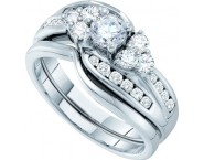Ladies Two Piece Set 14K White Gold 1.00 ct. GD-52542